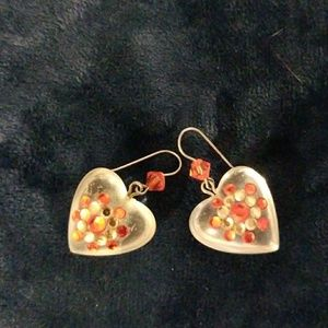 Tarina Tarantino lucite heart earrings